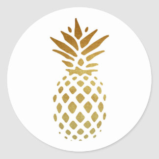 golden pineapple stickers zazzle. Black Bedroom Furniture Sets. Home Design Ideas