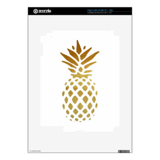 Golden Pineapple, Fruit in Gold Decal For iPad 2