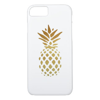 Golden Pineapple, Fruit in Gold iPhone 7 Case