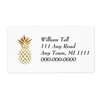 Golden Pineapple, Fruit in Gold Label