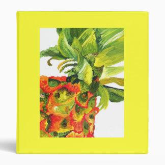 Golden Pineapple (Kimberly Turnbull Art) 3 Ring Binder