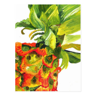 Golden Pineapple (Kimberly Turnbull Art) Postcard