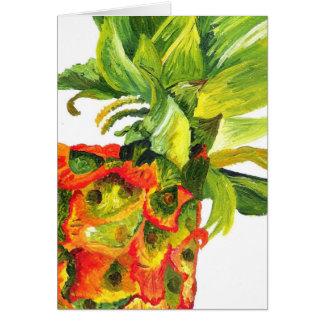 Golden Pineapple (Kimberly Turnbull Art) Stationery Note Card