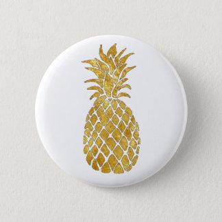 golden pineapple pinback button