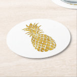 "golden pineapple round paper coaster<br><div class=""desc"">pineapple set of six paper coasters</div>"