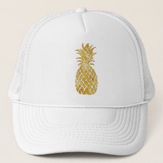 golden pineapple trucker hat