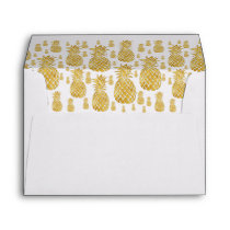 golden pineapples pattern envelope