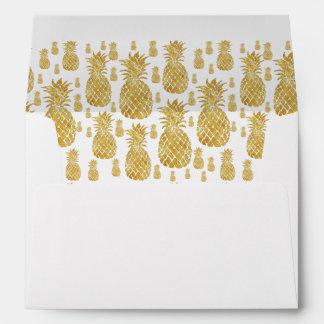 golden pineapples pattern envelope