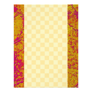 Golden Pink Border and unlimited checks Letterhead