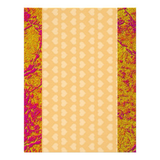 Golden Pink Border and unlimited Hearts Letterhead