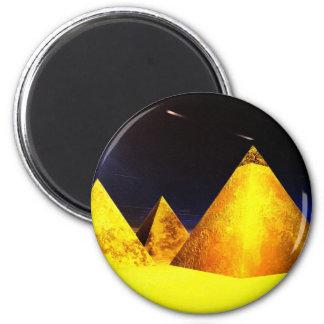 Golden Piramids@PGD 2 Inch Round Magnet