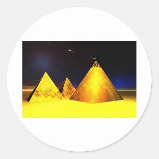 Golden Piramids@PGD Classic Round Sticker