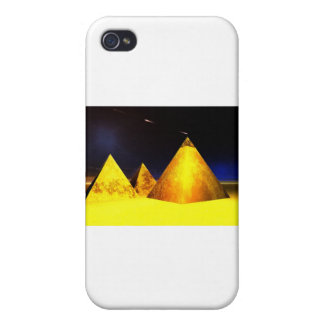Golden Piramids PGD Cover For iPhone 4