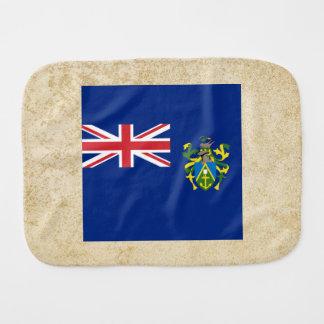 Golden Pitcairn Islands Flag Baby Burp Cloth
