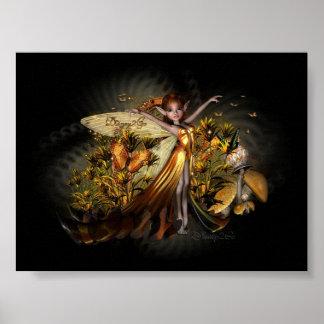Golden Pixie Poster