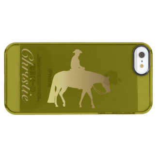 Golden Pleasure Horse on Any Color Clear iPhone SE/5/5s Case