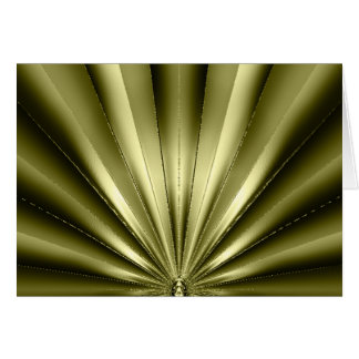 Golden Pleated Note/Greeting Card