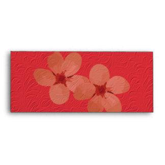 Golden Plum Blossoms Envelopes