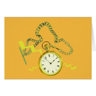 Golden Pocketwatch Greeting Cards