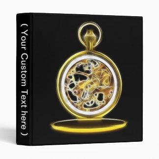 Golden Pocketwatch Pocket Watch Binder
