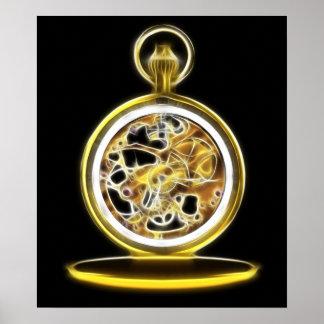 Golden Pocketwatch Pocket Watch Poster