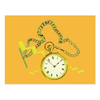 Golden Pocketwatch Post Card