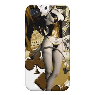 Golden Poker Girl 2 iPhone 4/4S Cases