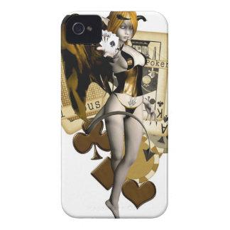 Golden Poker Girl 2 iPhone 4 Cover
