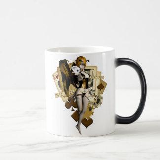 Golden Poker Girl 2 Magic Mug