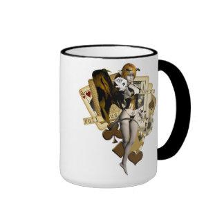 Golden Poker Girl 2 Ringer Mug