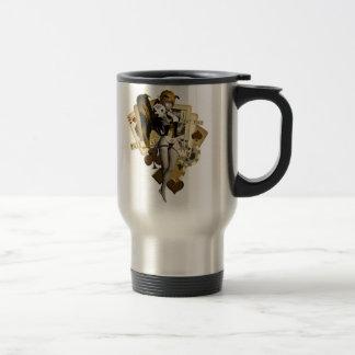 Golden Poker Girl 2 Travel Mug