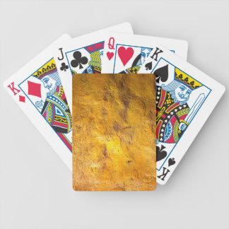 Golden Poker Playing Cards