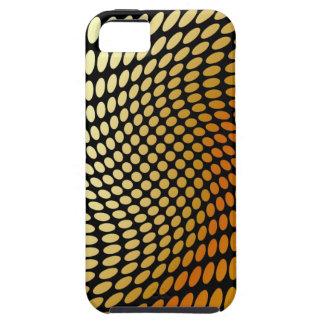 Golden polka dot twirl artwork iPhone SE/5/5s case