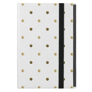 Golden Polka Dots Gold And White Modern Design iPad Mini Cover