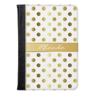 Golden Polka Dots Kindle Fire Folio
