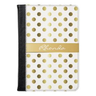 Golden Polka Dots Kindle Fire Folio Kindle Case