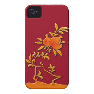 Golden pomegranate iPhone 4 case