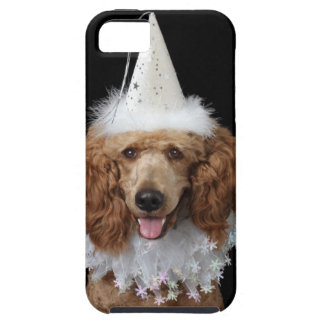 Golden Poodle Dog wearing a white clown costume iPhone SE/5/5s Case