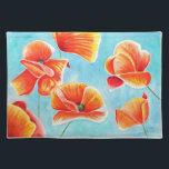 """Golden Poppies in the Sky design placemat<br><div class=""""desc"""">Image is coming from my original watercolour painting.</div>"""