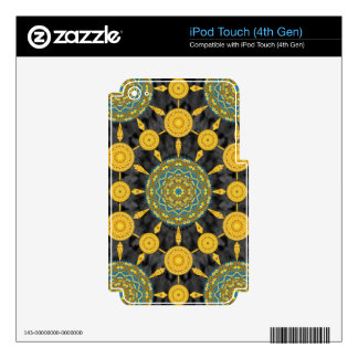 Golden Poppies Mandala Array MP3 Player Case Skins For iPod Touch 4G