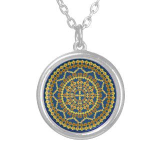 Golden Poppies Mandala Necklace