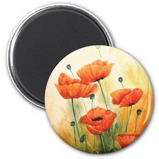 Golden Poppies Refrigerator Magnet