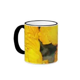 Golden Poppies Ringer Mug mug