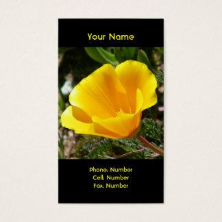 Golden Poppy Business Cards