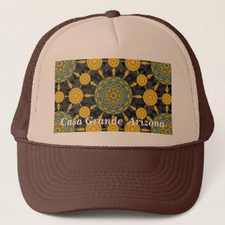 Golden Poppy Mandala Array Hat