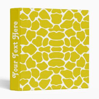Golden Poppy Safari Giraffe with text Binder