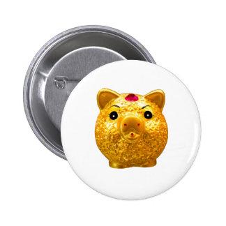 Golden Pork Pinback Buttons