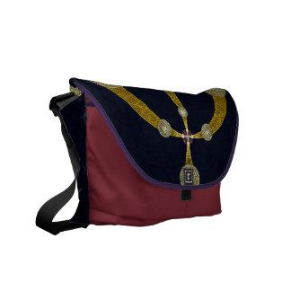 Golden Portal Abstract Art Messenger Bag