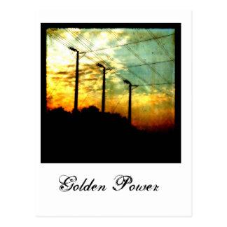 Golden Power Postcard