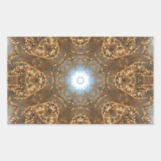 Golden Prairie Grass Kaleidoscope Rectangular Sticker